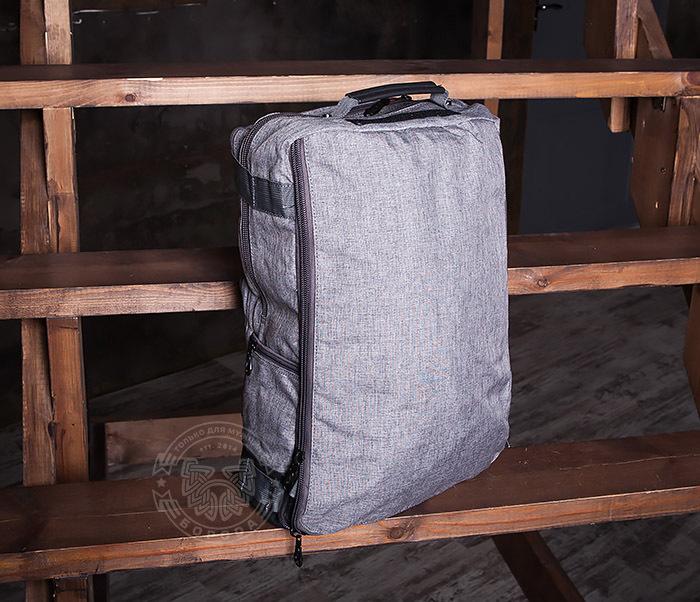 BAG405-2 Вместительный мужской рюкзак трансформер сумка для города из ткани фото 08