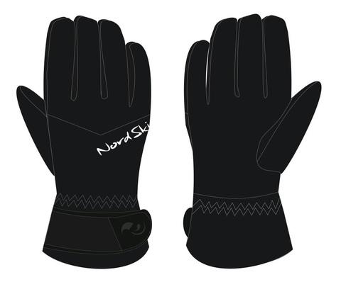 Nordski Jr Arctic Membrane детские перчатки black