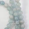 Бусина Жадеит (тониров), шарик, цвет - серо-голубой, 4 мм, нить