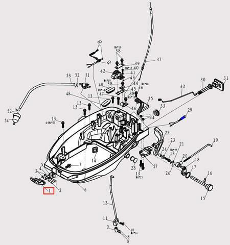 Защелка капота для лодочного мотора F9.8 Sea-PRO (2-1)