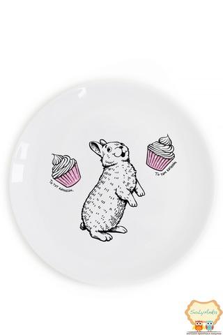 Тарелка «Кролик и капкейк»