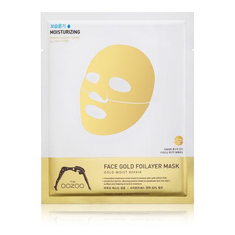 THE OOZOO  3х-слойная экспресс-маска с термоэффектом с аквапорином Face Gold Foilayer Mask