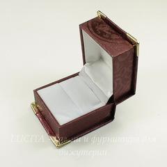 Подарочная коробочка  (цвет - бордовый), 60х56х44 мм