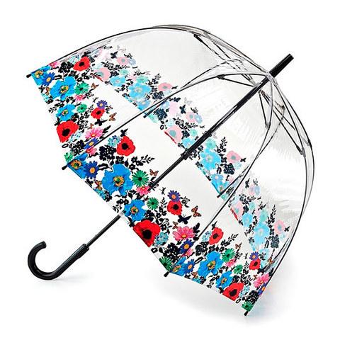 Fulton Wild Flowers прозрачный зонт-трость