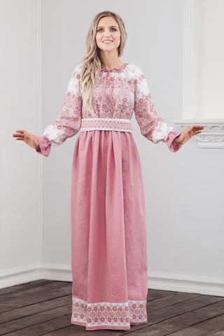 Платье традиционное Дары солнца в розовом