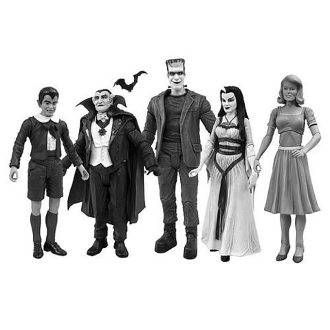 Munsters Black & White Figure Set