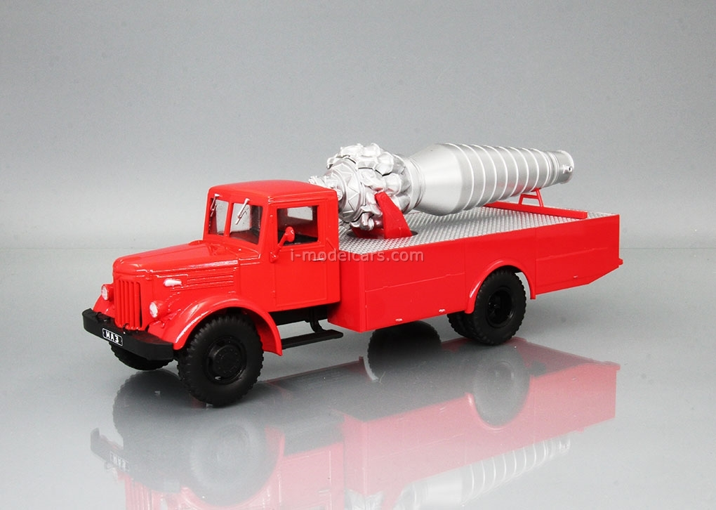MAZ-200 AGVT Fire-fighting red 1:43 DeAgostini Auto Legends USSR Trucks #14