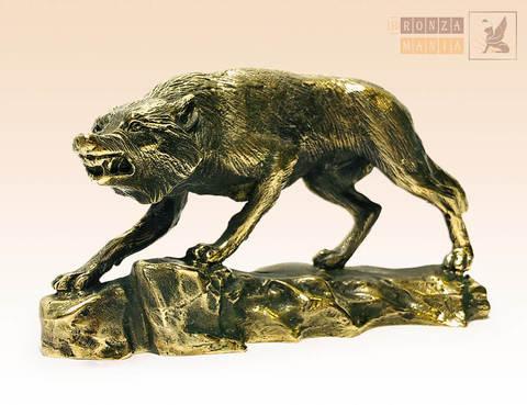 статуэтка Волк на скале