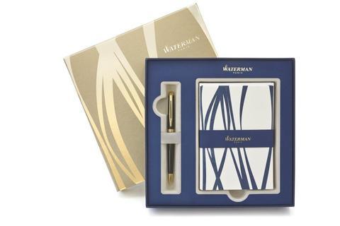Подарочный набор Waterman: ручка шариковая Hemisphere Black и набор открыток и конвертов 1937583 цвет черный в подарочной упаковке