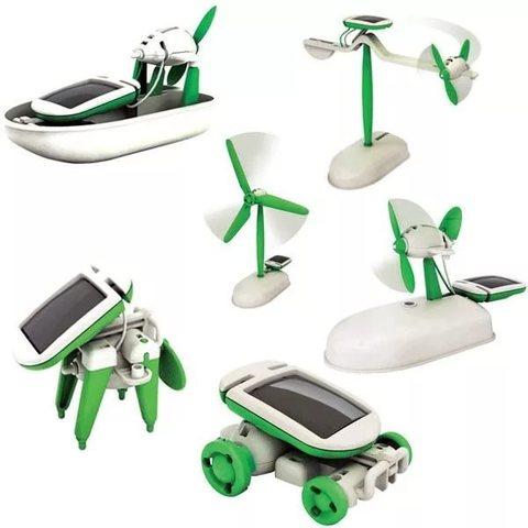 Игрушка-конструктор 6 в 1 Solar motion на солнечных батареях  предн...