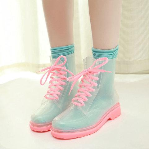 Прозрачные ботинки Invisible-Shoes Розовые