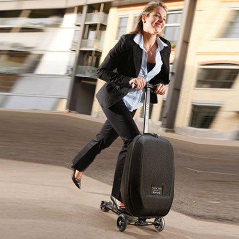 Micro Luggage. Cамокат и чемодан .
