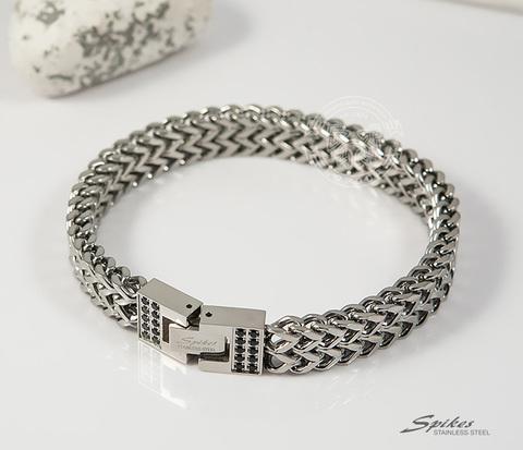 SSBH-0105 Широкий мужской браслет из стали оригинального плетения,