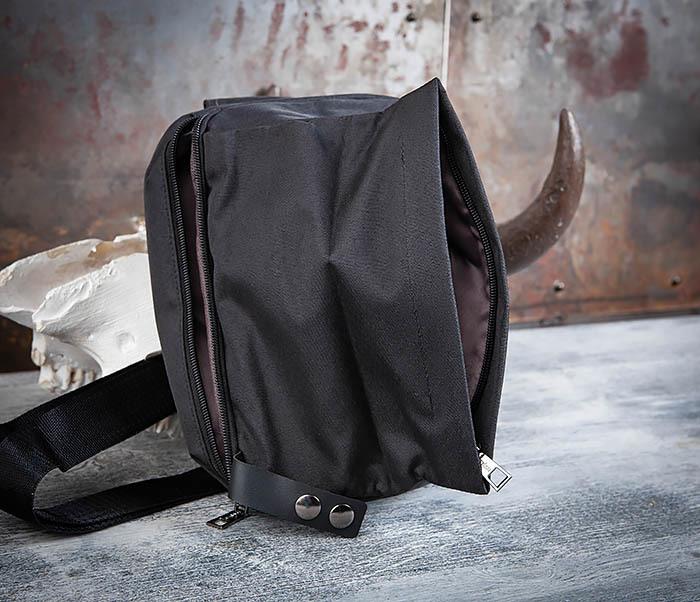 BAG456-1 Сумка черного цвета с одной лямкой через плечо фото 06