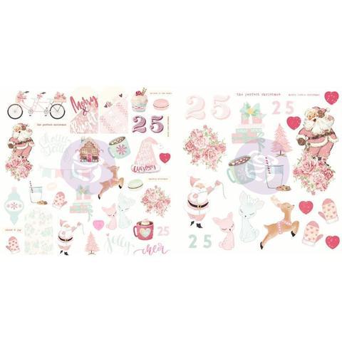 Высечки бумажные и ацетатные из коллекции Santa Baby от Prima Marketing- 61 шт