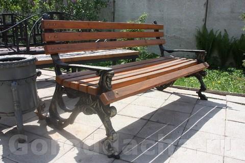 Скамейка чугунная литая «Грифон»