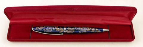Ручка с росписью серебром и золотом