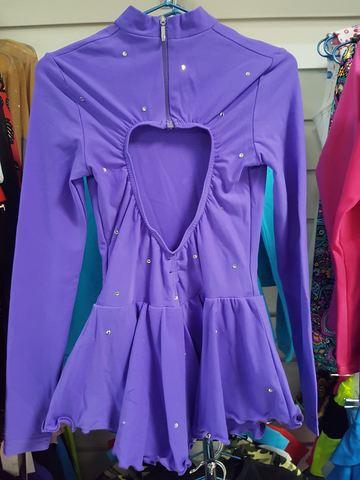 Платье для выступлений, рост 134 см (фиолетовое)
