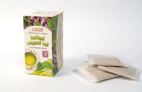 Зеленый чай со стевией и мятой