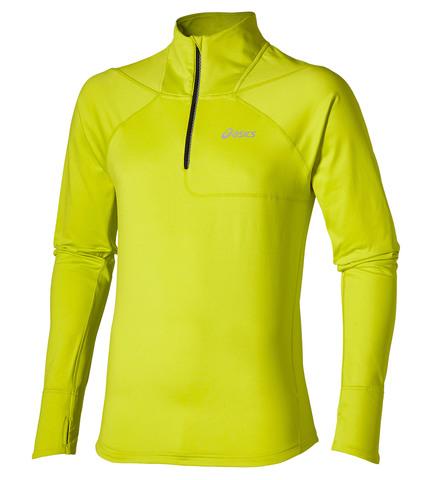Asics Lite-Show LS 1/2 Zip Мужская беговая рубашка желтая