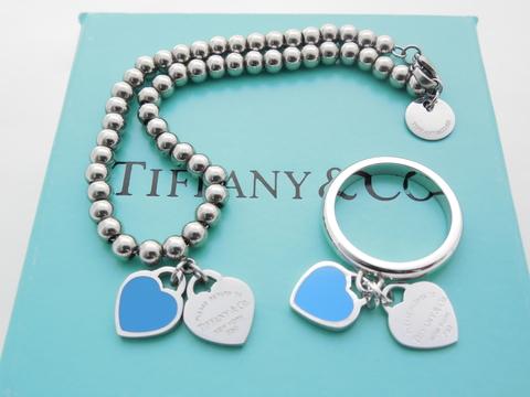 Комплект blue silver hearts