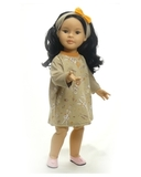 Платье из футера - на кукле. Одежда для кукол, пупсов и мягких игрушек.