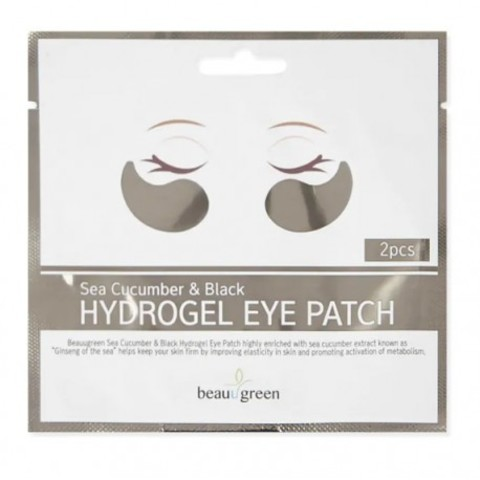 Beauugreen  Патчи для глаз Sea Cucumber &Black Hydrogel Eye Patch 1 пара