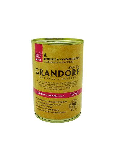Grandorf консервы для собак телятина и кролик 400г