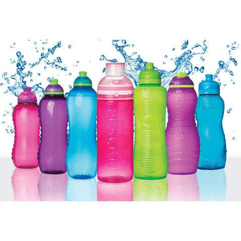 Спортивная бутылка для воды Sistema Hydrate, красная 645 мл