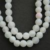 Бусина Агат цветочный матовый (тониров), шарик, цвет - белый, 6 мм, нить