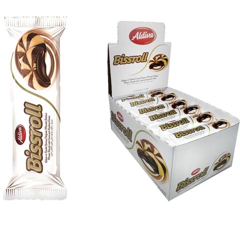 BISSROLL печенье мозаика с какао  кремом 1кор*6бл*24шт 72гр.