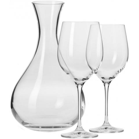 Набор из декантера 1,6л и 2 бокалов для красного вина Krosno