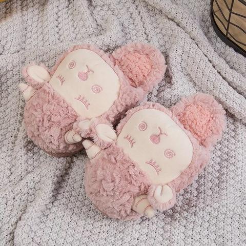 Тапочки Барашки розовые