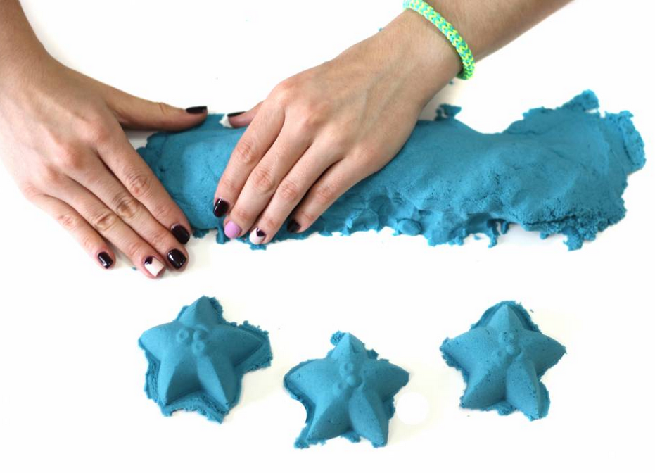 Кинетический песок. Голубой