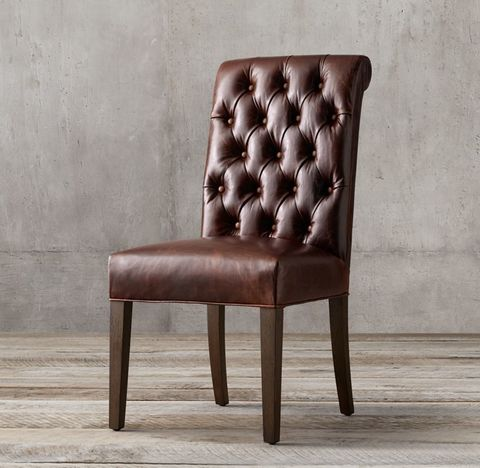 Bennett Roll-Back Leather Side Chair