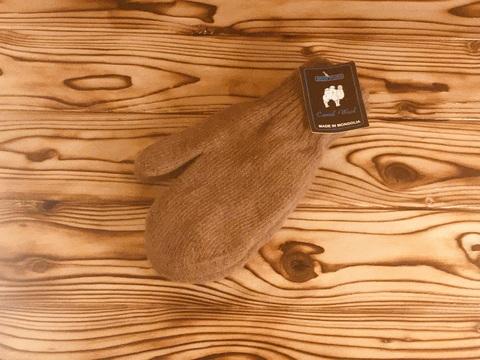 Варежки из шерсти верблюда (коричневые) фото2