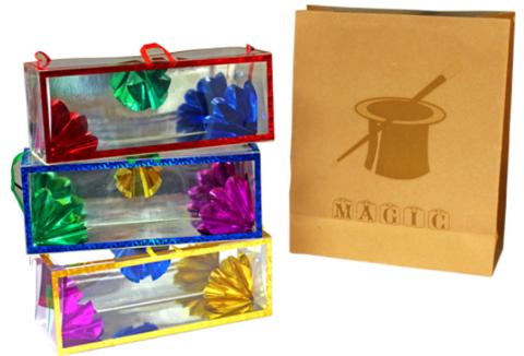 Появляющиеся коробочки с цветами