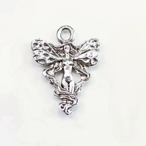 "Подвеска Quest Beads ""Принцесса Фея"" (цвет-античное серебро) 20х15 мм"