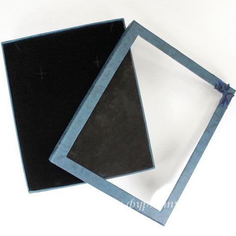 Подарочная коробочка с бантиком (цвет - синий), 165х13,5х35 мм