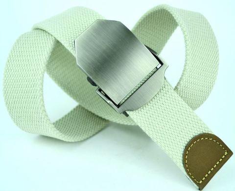 Ремень текстильный джинсовый мужской белый стропа 4 см 40Stropa-010