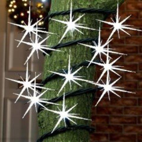 Нить гирлянда на деревья String уличная LED с полным мерцанием каждого светодиода мерцает каждая лампа лэд каучук провод