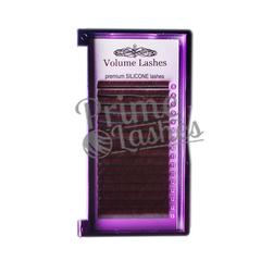 Ресницы Volume Lashes  микс 16 линий коричневые