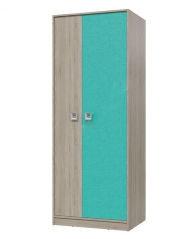 Шкаф для одежды ФЛОРИНА дуб сонома / аква