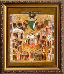 Собор всех святых, в земле Русской просиявших. Икона на холсте.