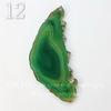 Подвеска Срез Агата (тониров), цвет - темно-зеленый, 44-112 мм (№12 (112х49 мм)(ЦАРАПИНА))