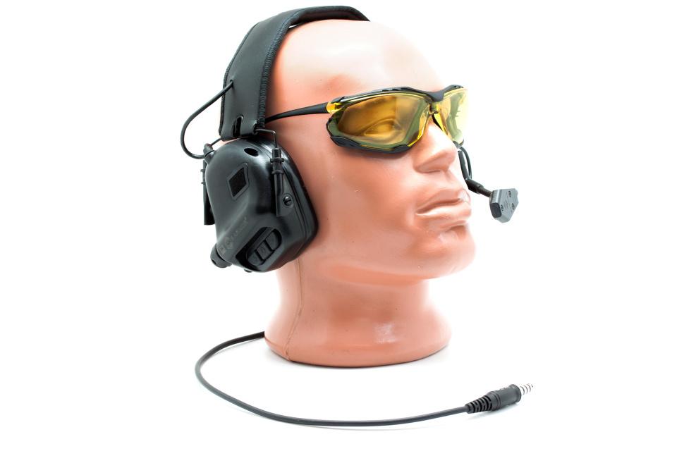Наушники активные стрелковые Earmor Millitary Edition ME5 с микрофоном и разъемом для тангенты 22-82 Дб