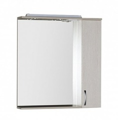 Зеркало-шкаф Aquanet Донна 80 белый дуб, светильник-розетка
