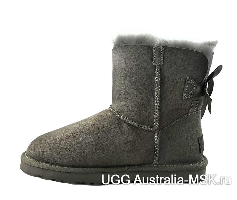 UGG Bailey Bow Mini Grey