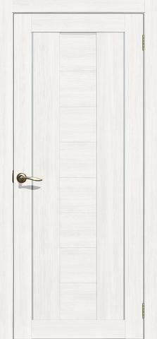 Дверь Двероникс 08, стекло матовое, цвет ясень снежный, остекленная