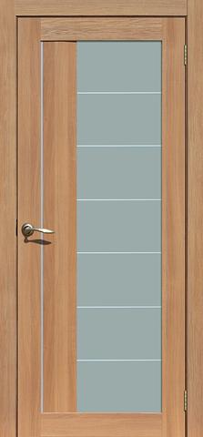 Дверь La Stella 219, стекло матовое, цвет дуб сантьяго, остекленная